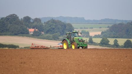 A tractor ploughing a field near Fring. Picture: Ian Burt
