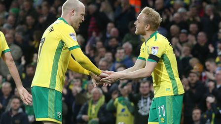 Alex Pritchard was Norwich City's stand out against Brighton. Picture: Paul Chesterton/Focus Images