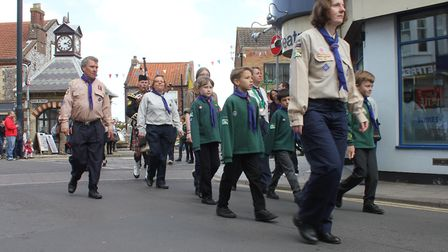 North East Norfolk Scouts' St George's Day parade at Sheringham. Picture: KAREN BETHELL