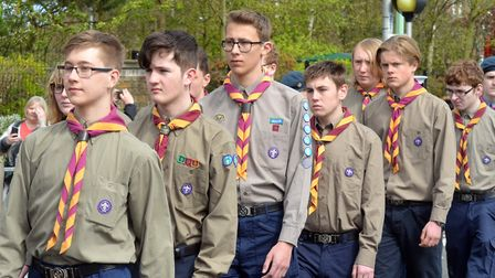 The Lowestoft and District Scout Association annual St Georges Day parade and service for 2017. Pict