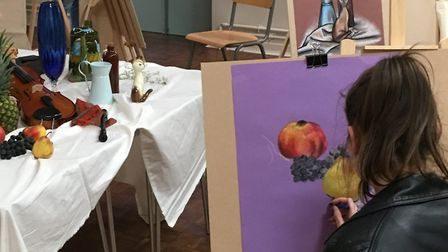 Children learning at the Norwich Art School. Picture: Alyona Hogg