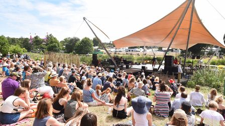 Latitude Festival 2016 at Henham Park near Southwold, Suffolk. The Waterfront Stage. Picture: Ja