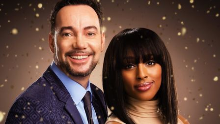 Craig Revel Horwood and Alexandra Burke, the star of Sister Act. Picture Jay Brooks.