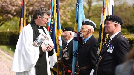 A service was held at Earlham Cemetery to mark the 75th anniversary of the Baedeker raids in Norwich