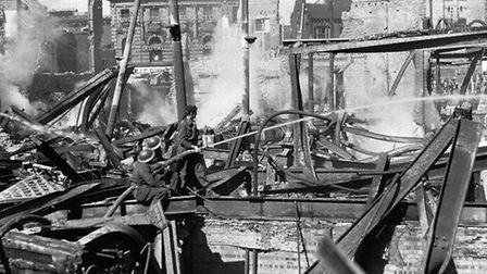 The Curls store in Norwich was damaged during the Blitz in 1942. Photo: Archant Library.