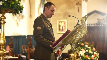 A service to commemorate Anzac Day was held at Wymondham Abbey. Pictured is Warrant Office Class Two