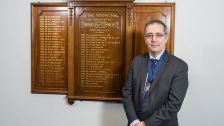 Jonathan Cage, president of the Norfolk Chamber of Commerce. Picture: Paul Harrison
