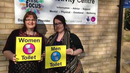 Clarissa Belson and April Simnor at First Focus, the home of the Dementia Friendly Fakenham project.