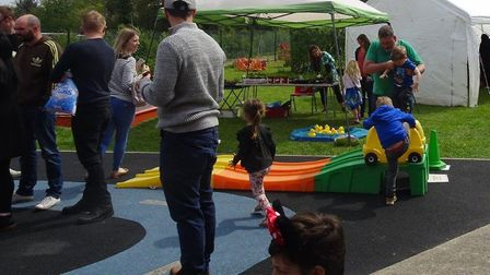 Fun and games in the garden at the spring fair in Mulbarton. Picture: Courtesy of Puddleducks