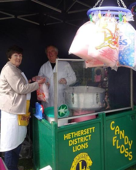 Hethersett Lions ran a candy floss stall at the spring fair in Mulbarton. Picture: Courtesy of Puddl