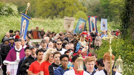 Thousands of people joined the annual Walsingham pilgrimage on Bank Holiday Monday: Picture: Keith M