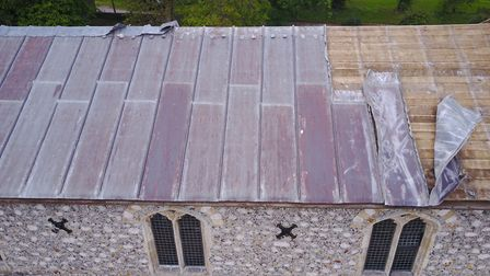 Lead theft at Baconsthorpe church: Pictures: Pat Cubitt