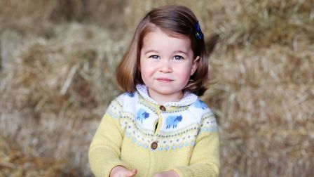 Photo released by the Duke and Duchess of Cambridge of Princess Charlotte taken by her mother at Anm