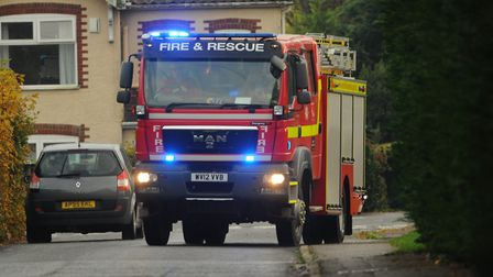 Two fire crews were called to a kitchen fire in Attleborough. Photo: Denise Bradley