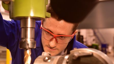 Student George Elmar studying at the University Technical College Norwich. Picture: Nick Butcher
