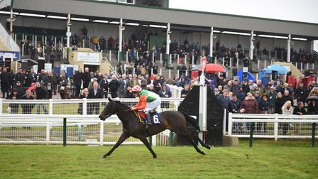Afternoon racing at Great Yarmouth. Ocelot winning the 2nd race. Picture : ANTONY KELLY