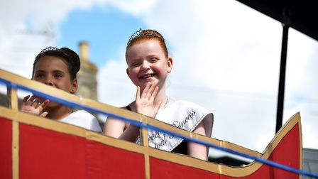 Princesses Brooke Lay and Faith Alexander in last year's Beccles Carnival parade. Picture: James Bas