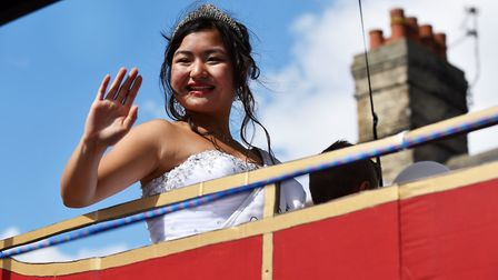 Miss Beccles Stephanie Tsang in last year's Beccles Carnival Parade. Picture: James Bass