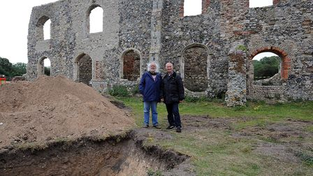 The Time Team filming in Dunwich in 2011. Picture: PHIL MORLEY