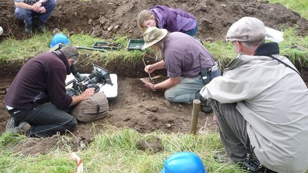 Time Team filming at Brancaster Roman fort in 2012. Picture: NATIONAL TRUST