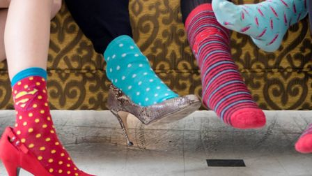 Colchester branch of The Business Woman's Network wore silly socks for Comic Relief. Picture: CONTRI
