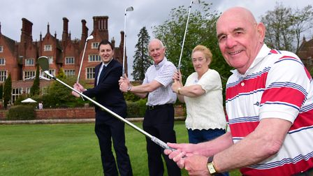 Richard Tidy from Dunston Hall, Dr Tony Page from Norfolk Heart Trust and organisers Angie and Jack