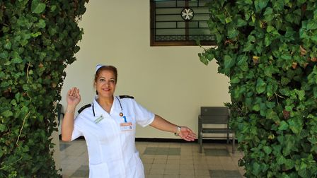 Marlene Katanasho at the Jerusalem clinic. Picture: submitted