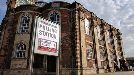 St George's Theatre in Great Yarmouth which a polling place for the county council elections on May