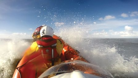 The Hemsby lifeboat in operation. Picture: Hemsby Lifeboat