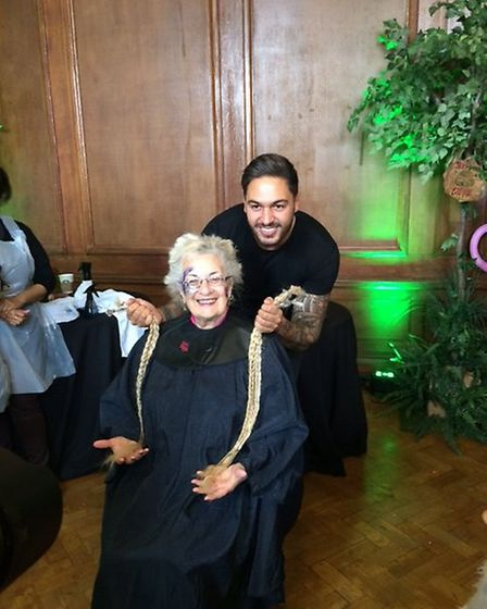 Sue Manning with The Only Way Is Essex star Mario Falcone. Picture: Saffron Bray.