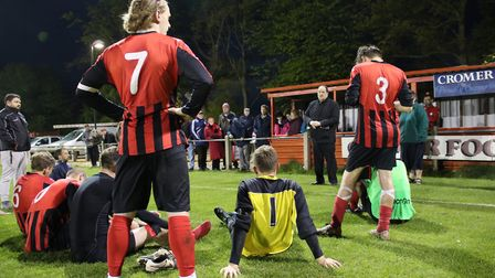Cromer Town chairman Paul Jarvis, who is retiring from his post this summer, made a pitch-side plea