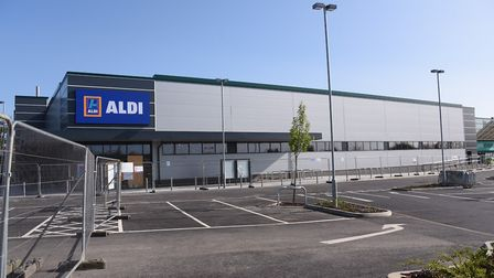 Work on the new Aldi store on Hall Road almost completed. Picture: DENISE BRADLEY