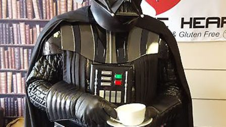 Darth Vader at last year's Coffee Heart Star Wars day. Picture: Courtesy of Coffee Heart.