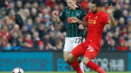 Liverpool's Kevin Stewart could be a target for a host of clubs this summer. Picture: Martin Rickett