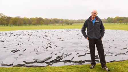 Earth Sky is the new Richard Long exhibition at Houghton Hall. Picture: Ian Burt