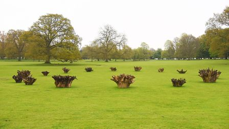 Earth Sky is the new Richard Long exhibition at Houghton Hall. Pictured is the White Deer Circle. Pi