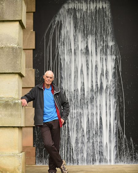 Earth Sky is the new Richard Long exhibition at Houghton Hall. Here pictured with the White Water Fa