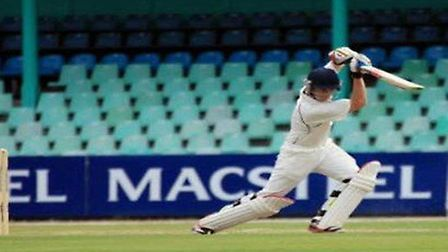 Great Witchingham's new overseas recruit Luke Schwemmer in full flow. Picture: Great Witchingham CC