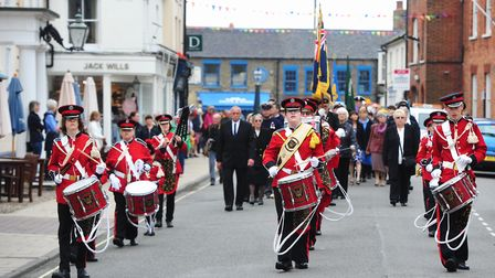 Southwold and Reydon Corps of Drums lead a previous Civic Sunday parade.