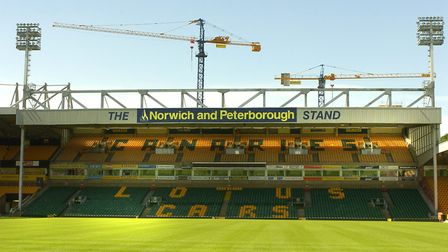 The Norwich and Peterborough stand (River End) - Norwich City Football Club - Carrow Road Picture: