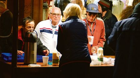 The Norwich Soup Run, co-ordinated by the Salvation Army Citadel but involves dozens of churches and
