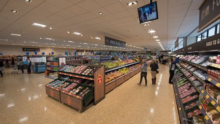 Opening day of the new Aldi store, Hall Road, Norwich. Picture: STEVE ADAMS