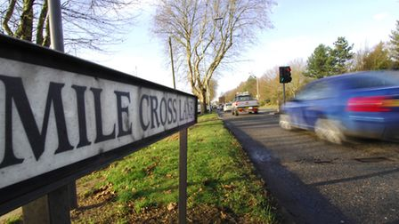 Mile Cross Lane and Catton Grove Road junction. Photo:Antony Kelly .