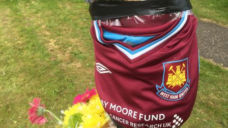 A West Ham shirt left at the scene of a crash on Caister Road. Picture: Archant