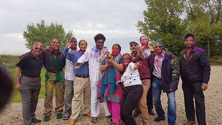 The Holi Festival of Colours was celebrated at the Hindu Temple on Great Yarmouth's Acle Straight. P
