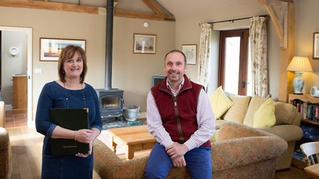 Lynne and Stephen Harvey from Jex Farm B & B and Self Catering Barn Conversions. Pic by TMS Media