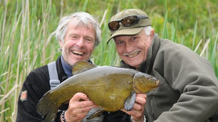 The older you get the more summer means. JB and John Pelham celebrate the latter's PB tench.