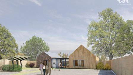 An artist's impression of the new Information and Resource Centre (ISC) in Halesworth. Design by LSI
