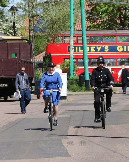 The weekend included period buses and visiting vehicles of the era as well as vintage music and danc