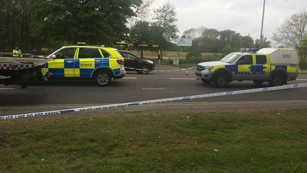 Police dealt with the aftermath of the crash Picture: Anthony Carroll